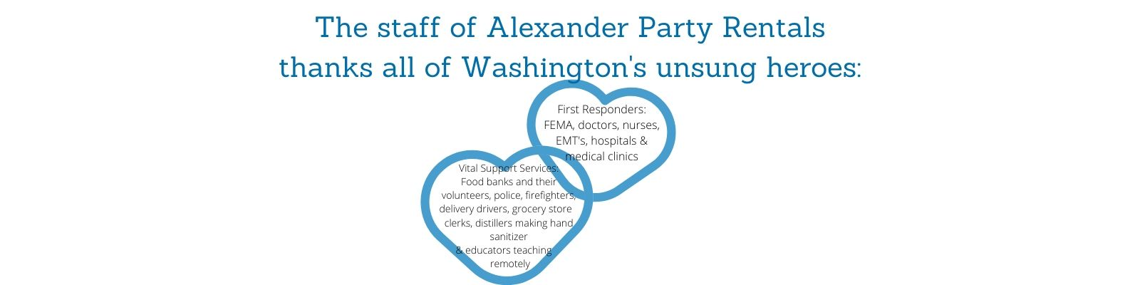 Alexander Party Rentals thanks first responders in the Greater Puget Sound area